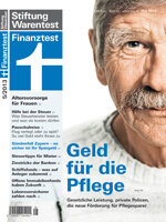 Heft 05/2013 Gesetzliche Pflegeversicherung: Was Versicherte trotzdem zahlen müssen