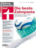 Heft 03/2013 Zahnpasta: Sehr gut geschützt ab 39 Cent