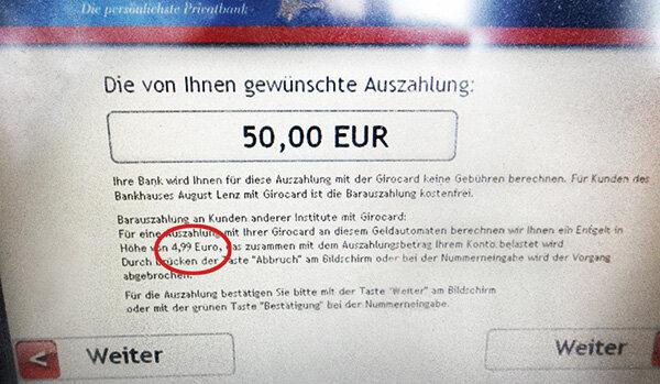 Geld Abheben Fremdgehen Wird Teurer Stiftung Warentest
