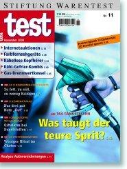 Heft 11/2000 Superbenzin: Alles super oder was?