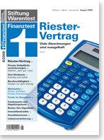 Heft 08/2008 Riester-Jahresmitteilungen: Rätselstunde für Riester-Sparer