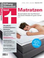 Heft 09/2016 Matratzen: Lifestyle-Matratzen und Boxspringbetten im Test