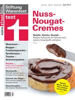 Heft 04/2016 Nuss-Nougat-Cremes: Schmeckt Nutella wirklich am besten?