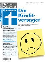 Heft 06/2012 Kreditberatung: Die Kreditversager