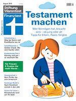 Heft 08/2019 Testament: Keine Frage des Alters