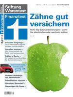 Heft 11/2016 Zahnzusatz-Versicherungen: Sauber, schön und teuer