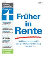 Heft 07/2019 Früher in Rente: Noch viel vor