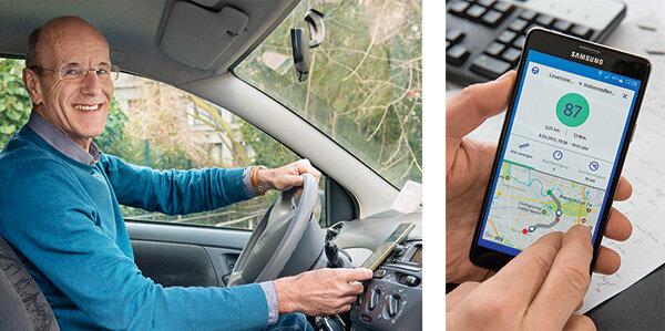 telematik in der autoversicherung fahrstil per app. Black Bedroom Furniture Sets. Home Design Ideas