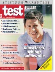 Heft 09/2003 Sportunterwäsche: Synthetik macht das Rennen