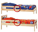 Ikea Kinderbetten Schutzgitter Halterung Kann Brechen Stiftung