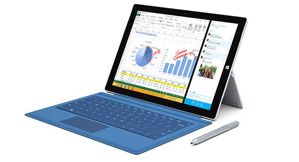 Wind­ows-Tablet Surface Pro 3 Meldung