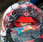Regenhauben für Kinderwagen Schnelltest