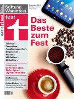 Heft 12/2016 Espressomaschinen: Vollautomaten und Siebträgermaschinen im Test