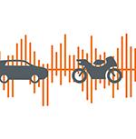 Lärm von Pkw und Motorrädern Meldung