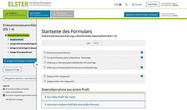 Elster Mit Elster Online Schneller Geld Zuruckholen Stiftung Warentest