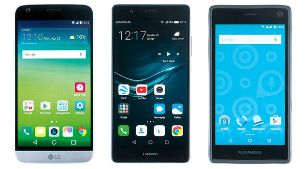LG G5, Huawei P9, Fairphone 2 Schnelltest