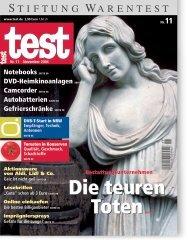 Heft 11/2004 Bestattungen: Die teuren Toten