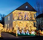 Weihnachtsbeleuchtung am Haus Meldung