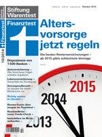 Heft 10/2014 Private Rentenversicherung: 39 Policen im Test