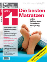 Heft 09/2014 Matratzen: Liegen und liegen lassen