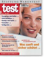 Heft 05/2003 Antibabypillen: Erste Wahl für die Liebe