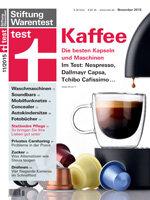 Heft 11/2015 Kaffeekapselmaschinen: Die bsten Mini-Automaten