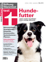 Heft 03/2015 Hundefutter: Jedem zweiten Feuchtfutter fehlen wichtige Nährstoffe