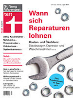 Heft 04/2017 Kaffeevollautomat, Staubsauger, Waschmaschine: Wann sich eine Reparatur lohnt