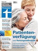 Heft 10/2018 Rechtlich vorsorgen: Warum Patientenverfügung und Vorsorgevollmacht so wichtig sind