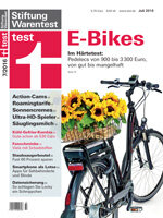 Heft 07/2016 Elektrofahrräder: Der Härtetest