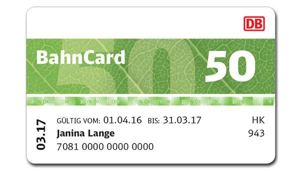 Bahncard 50 Für 60¬
