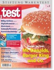 Heft 02/2005 Burger: McDonald's ist der Burger King