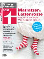 Heft 10/2015 Matratzenkauf und Lattenroste: Auf diese Bluffs sollten Sie nicht reinfallen