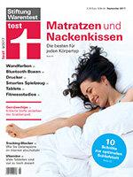 Heft 09/2017 Nackenkissen: Nur 3 von 20 betten jeden gut