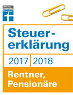 Steuererklärung 2017/2018 - Rentner, Pensionäre: Schritt für Schritt zum ausgefüllten Formular