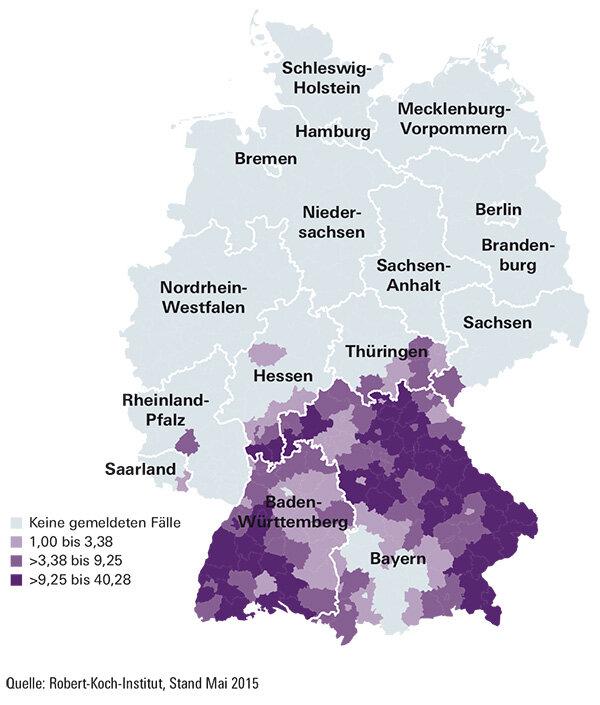zecken zecken risikogebiete in deutschland special. Black Bedroom Furniture Sets. Home Design Ideas