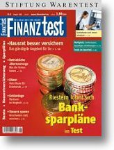 Heft 08/2002 Riester-Banksparpläne: Die Angebote im Test