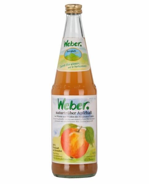 Bergisch pur Weber naturtrüber Apfelsaft, 100% Direktsaft aus Streuobst Hauptbild