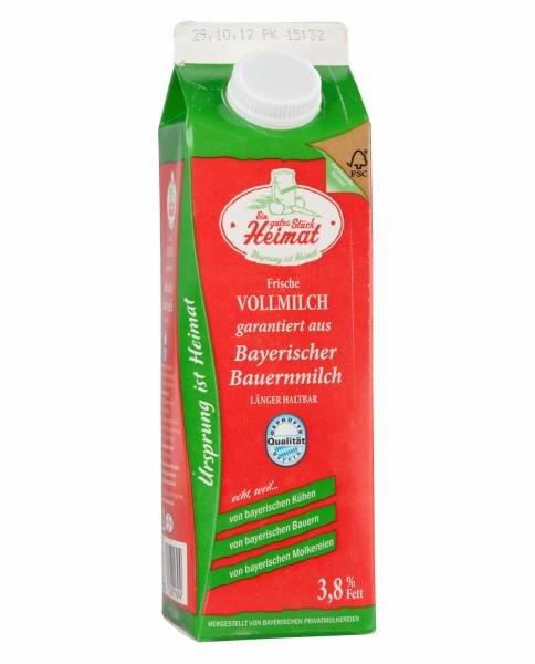Lidl/Ein gutes Stück Heimat frische Vollmilch garantiert aus Bayerischer Bauernmilch Hauptbild