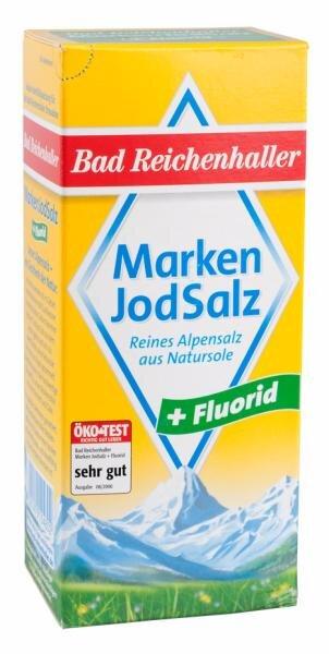 Bad Reichenhaller Markenjodsalz + Fluorid Hauptbild