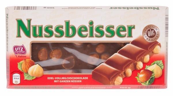 Aldi (Nord)/Nussbeisser Edel-Vollmilchschokolade mit ganzen Nüssen Hauptbild