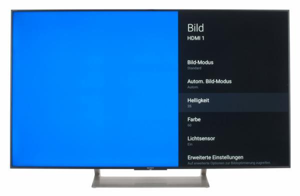 Sony KD-55XE9005 Bildschirmmenü