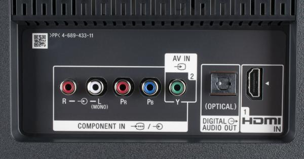 Sony KD-49XE9005 weitere Anschlüsse