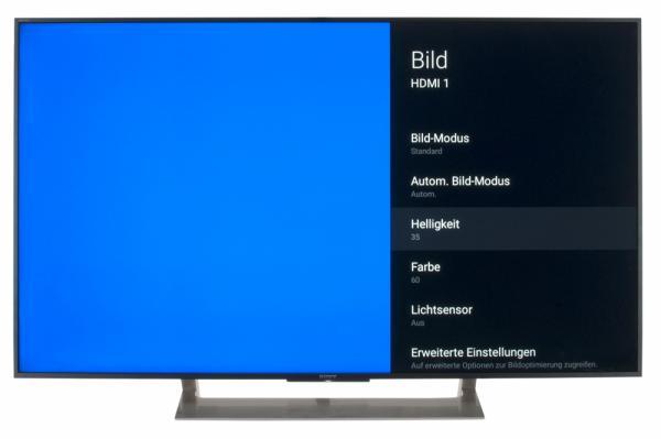 Sony KD-49XE9005 Bildschirmmenü