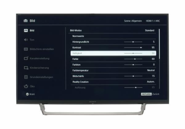 Sony KDL-40WE665 Bildschirmmenü