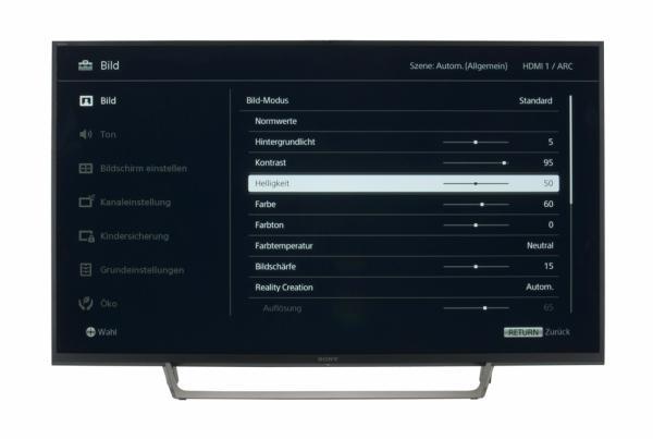 Sony KDL-49WE665 Bildschirmmenü