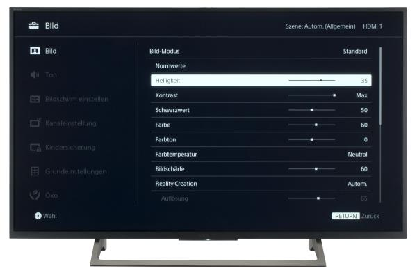 Sony KD-43XE7005 Bildschirmmenü