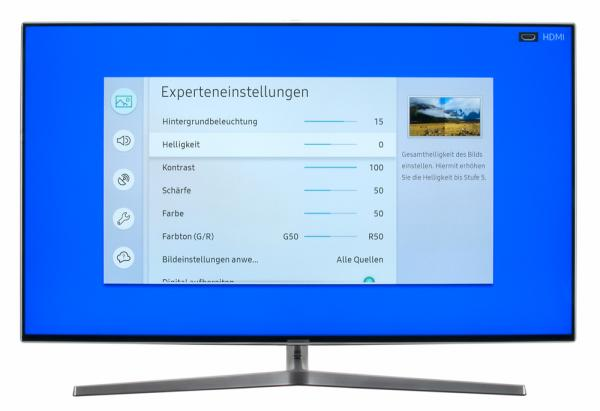 Samsung UE49MU8009 Bildschirmmenü