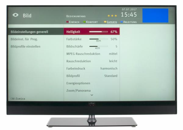 Metz Cosmo 43 Bildschirmmenü