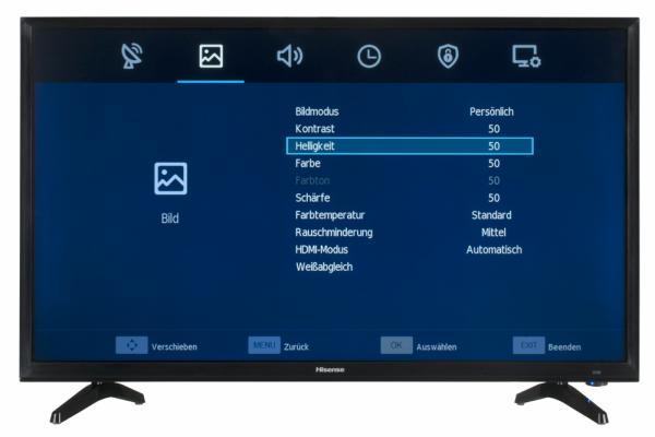 Hisense H32N2100S Bildschirmmenü